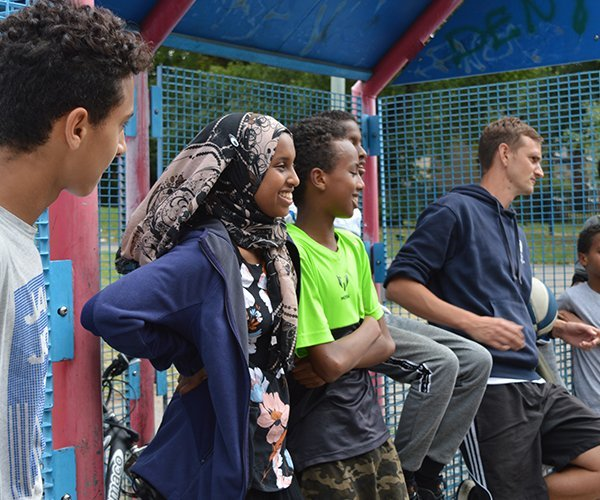 Young people attending a Sport 4 Life UK sports session