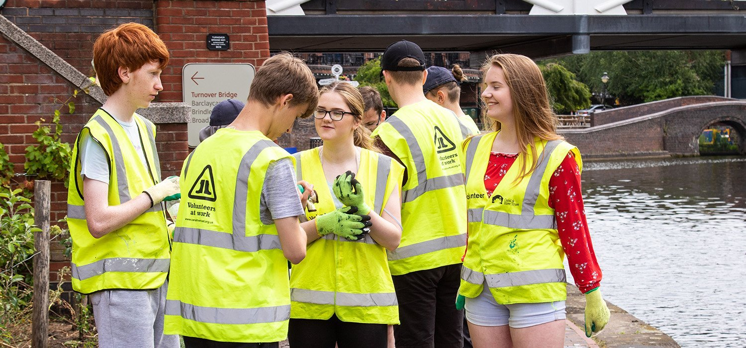 young people social action group by birmingham canal